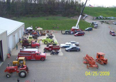 View of static displays in front of the show
